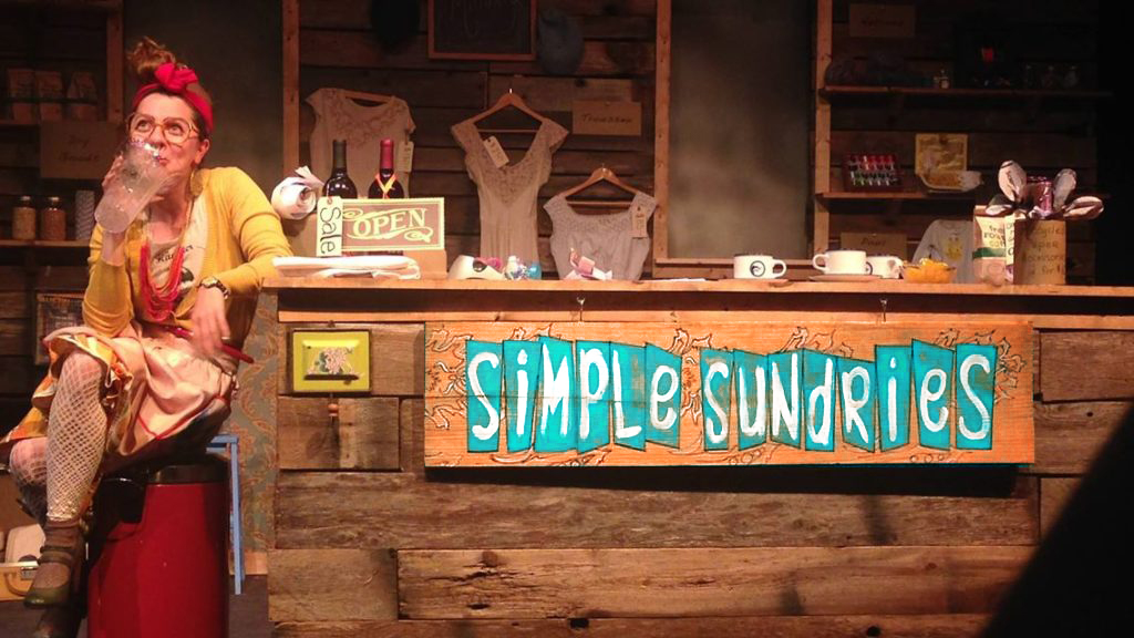 Constance enjoys a drink at Simple Sundries