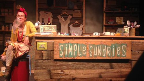 Simple Sundries - Constance drinking coffee