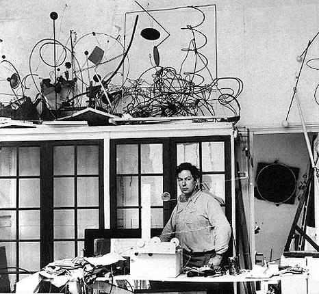 Calder in his Paris studio, 14 Rue de la Colonie, fall 1931