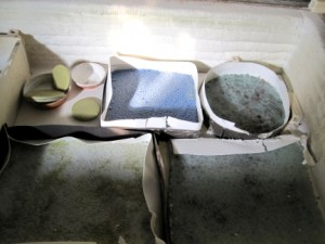 Cast Recycled Glass slabs