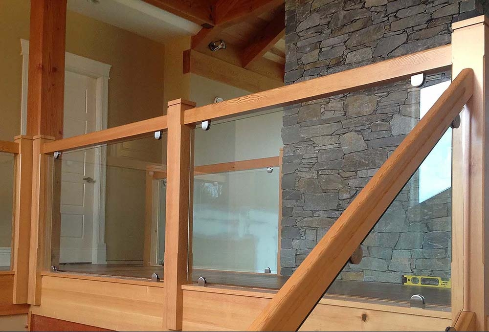 Expert Glass Railings Interior Exterior Award | Wooden Stairs Railing Design With Glass