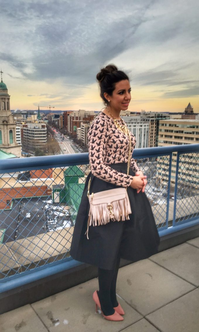 glass of glam - black midi skirt