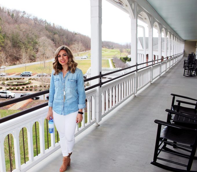spring water chambray - glass of glam