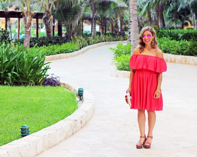 Red Off Shoulder Dress | Glass of Glam