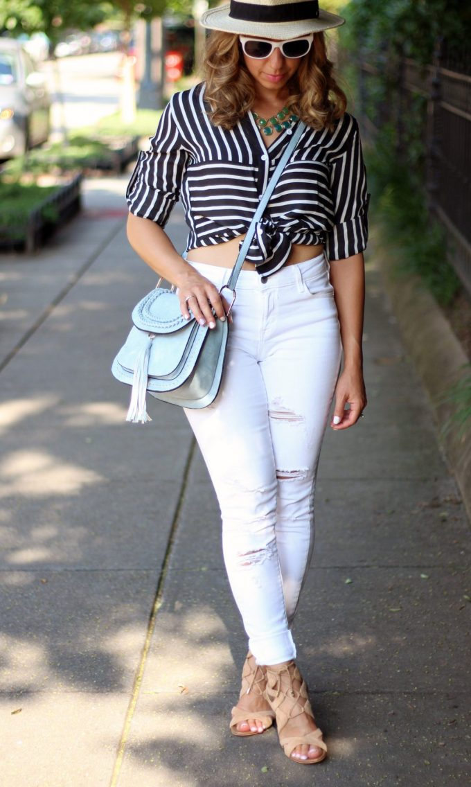 make me chic striped blouse | glass of glam