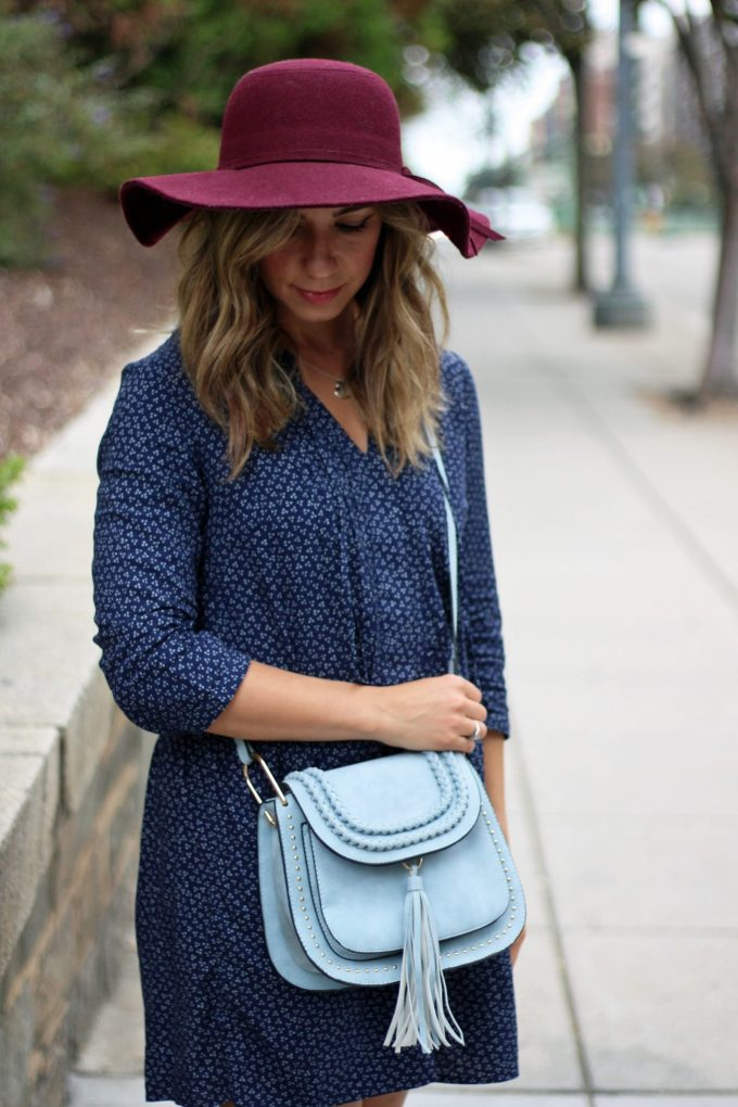 Blue Old Navy Shift Dress for Fall