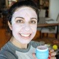 Lifestyle blogger Roxanne of Glass of Glam's Sand and Sky Pink Mask Review
