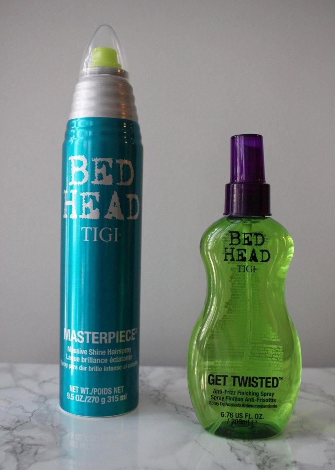 Lifestyle blogger Roxanne of Glass of Glam's review of Bed Head by TIGI hair products