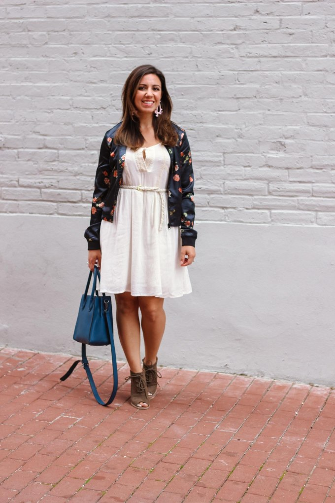 Styling A White Dress for Fall on Glass of Glam