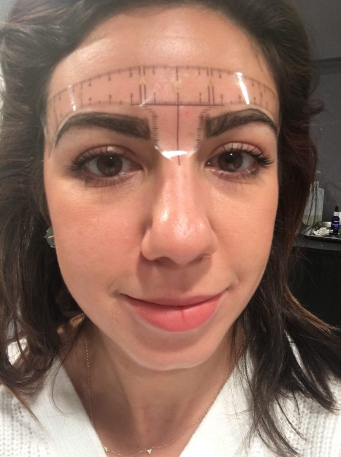 Lifestyle blogger Roxanne of Glass of Glam's eyebrow Microblading experience