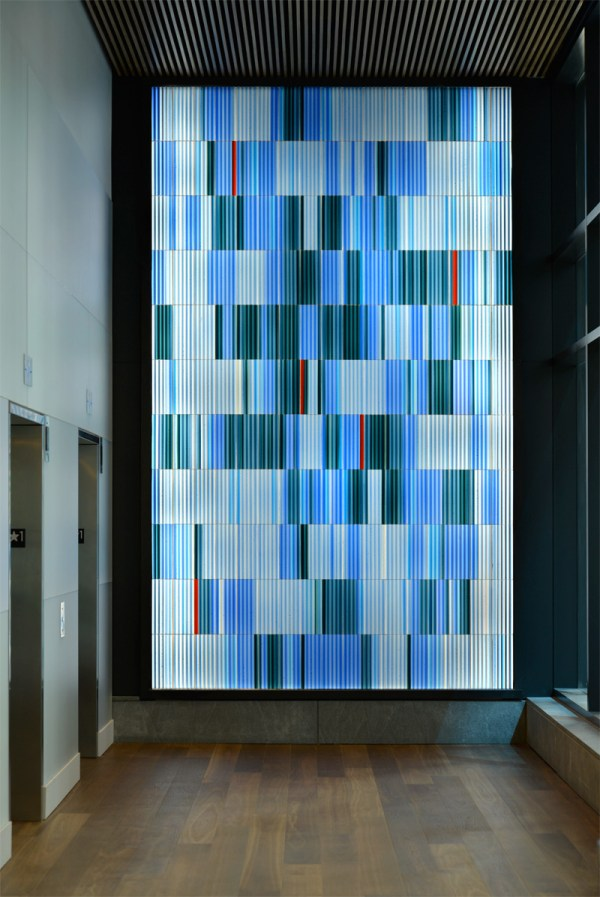 Glass Wall Elevator Lobby
