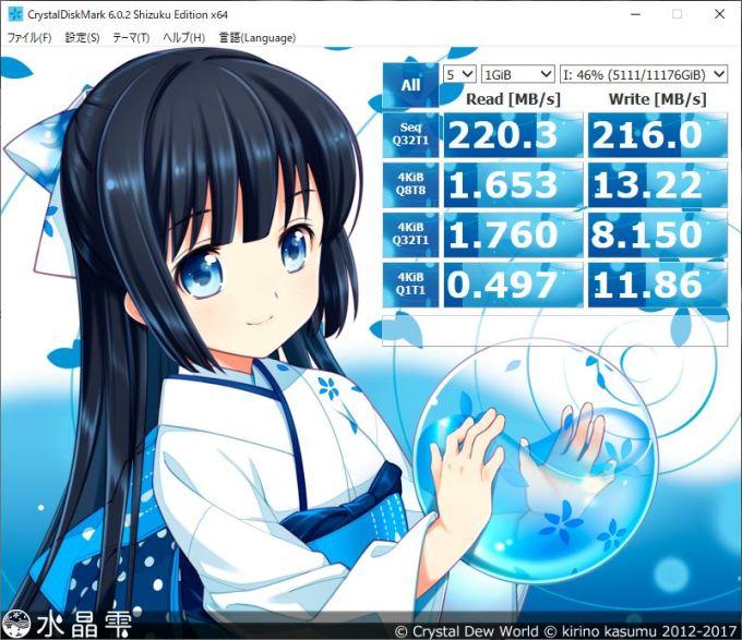 Seagate Exos X12 自作PCにSATA3.0接続した際のベンチマーク