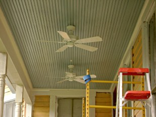Installed ceiling fans
