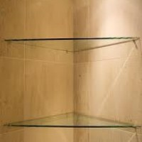 TRIANGLE GLASS SHELF | Glass Tile and Stone