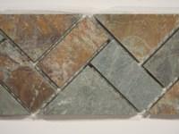 Slate Mosaic Border 3X12   Glass Tile Home