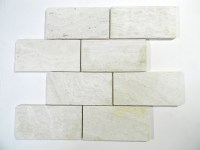 Ivory Travertine Tumbled 3X6 X 8Mm Wall/Floor Tile | Glass ...
