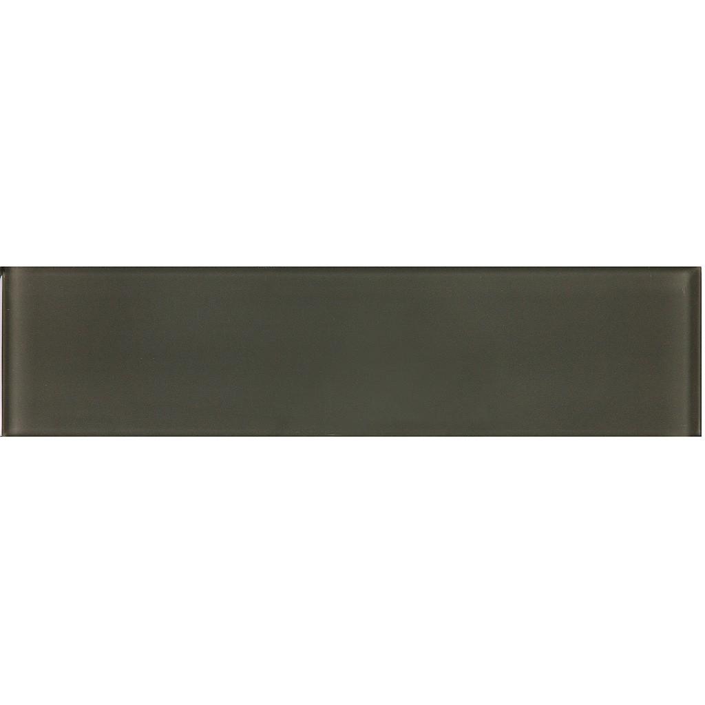 carbon 3x12 glass tile