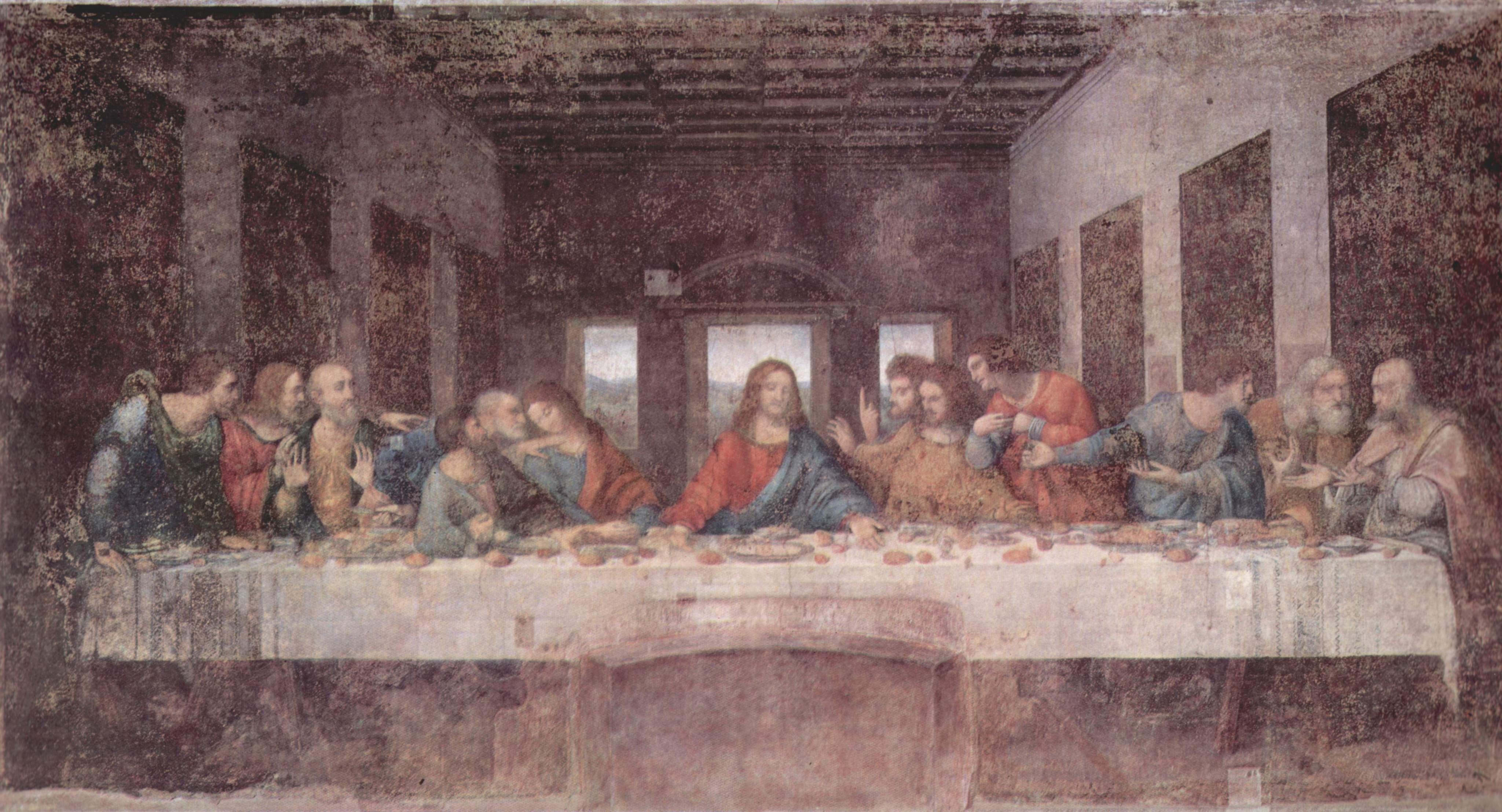Image result for the last supper painting fresco