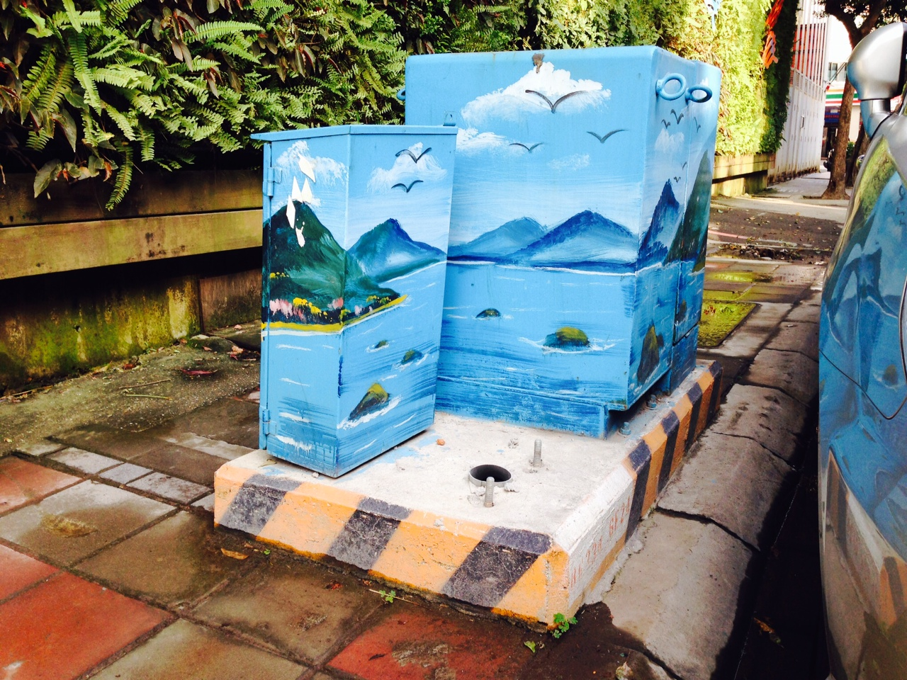 small resolution of painted electrical boxes in taipei
