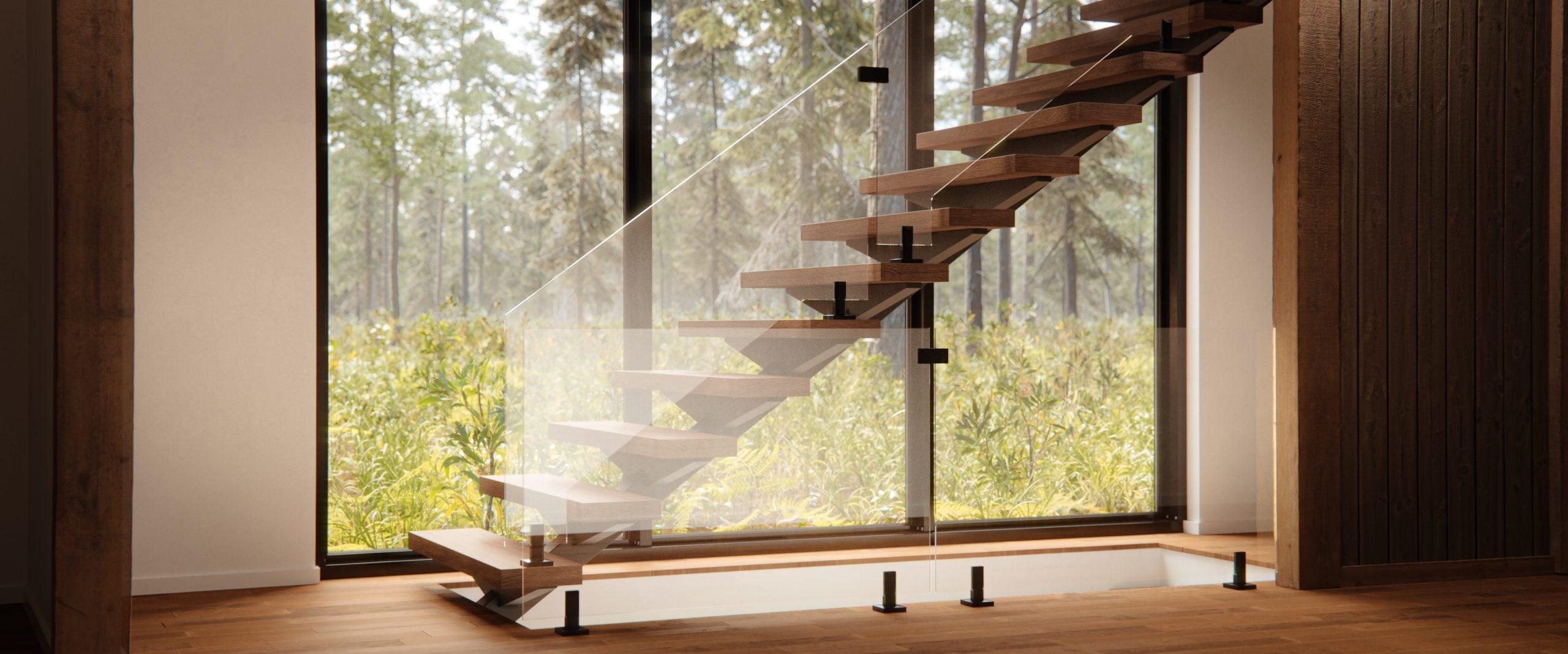 Interior Frameless Glass Railing System Glassupply | Frameless Glass Stair Railing | Metal | Seamless Glass | Handrail | Framed Glass | Office