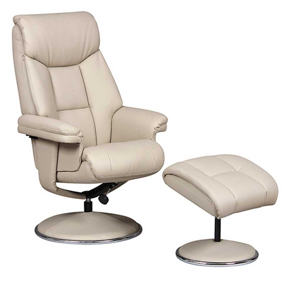 Swivel Recliner Chairs Bradfield Swivel Recliner Chair With Free Footstool Bone