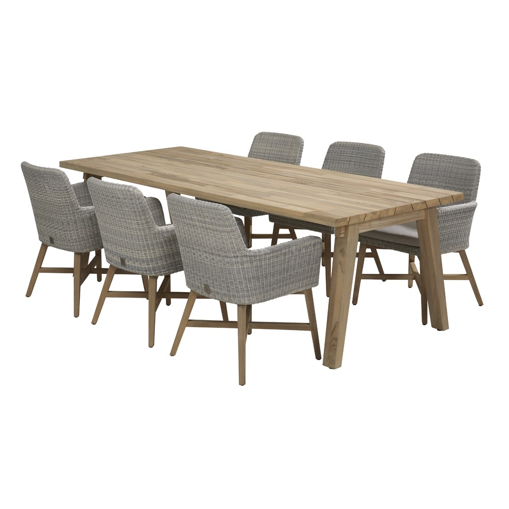Teak Dining Room Chairs Lisboa Derby Teak Dining Table 6 Dining Chairs