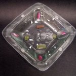 Square Recycled Glass Bowl