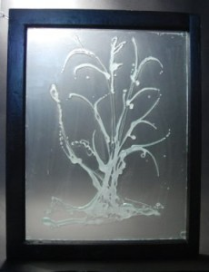Recycled Glass Tree Window