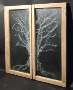Recycled Architectural Glass Tree Windows
