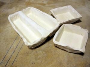 Empty Ceramic Tile Molds - Various sizes
