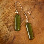 Recycled Bottle Glass Earrings