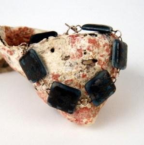 Recycled window glass bracelet