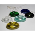 Recycled glass pendants