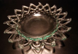 Fused Recycled Glass - Lace Rim