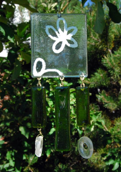 White flower windchime