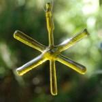 fused bottle glass star