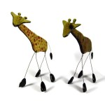 Fused Bottle Glass Giraffe