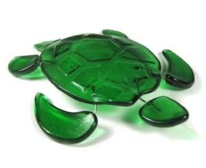 fused glass turtle