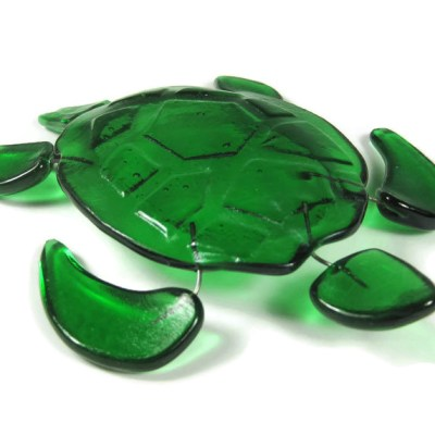 fused glass turtle