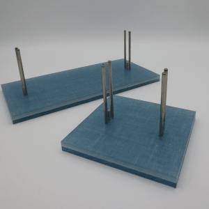 light blue linen stands