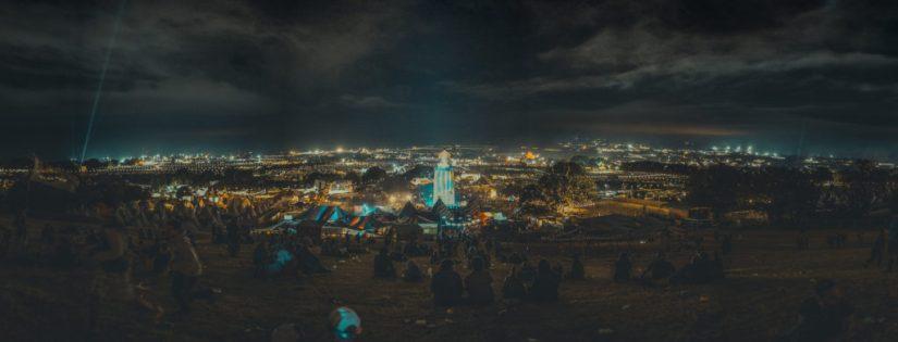 Glastonbury Festival Panorama