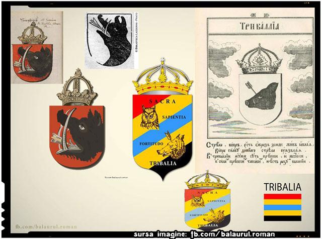 Tribalia, steme, heraldica