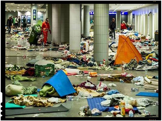 "Cum arata o gara dupa trecerea ""refugiatilor"""