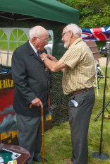 Roy Knight receiving his Commemoration Medal from Dave Burrows 2012