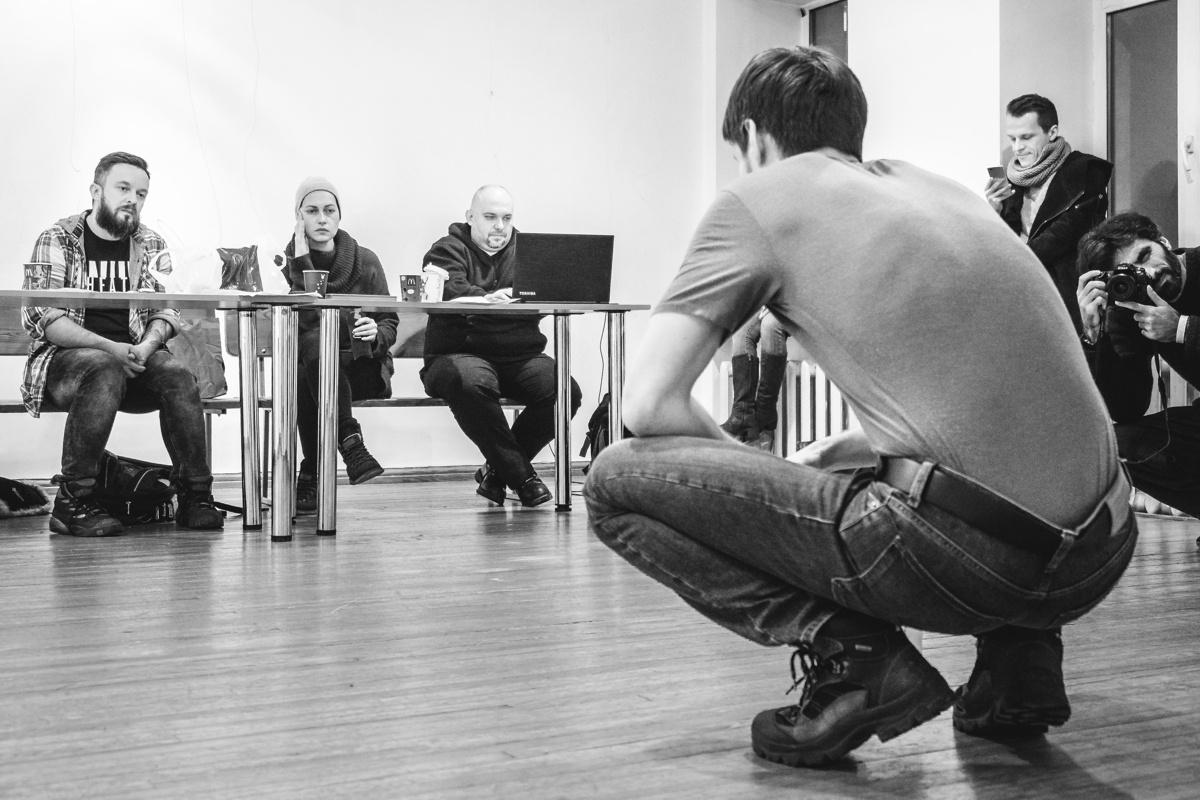 Так проходив кастинг акторів для нової вистави «Дикого» - «Том на фермі» (Фото надано Ярославою Кравченко)
