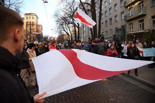 Акція на підтримку білоруських активістів у Києві (Фото: РБК)