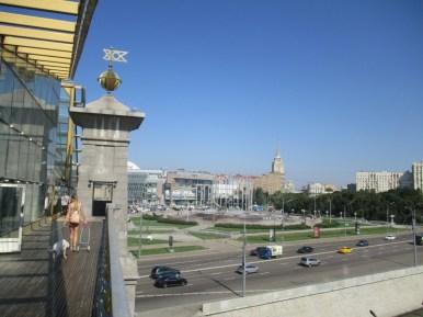 Москва. Вид на ТЦ с моста