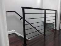 Horizontal rail modern steel handrails by GLBC   GL ...