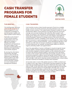Cash Transfer Programs for Female Students