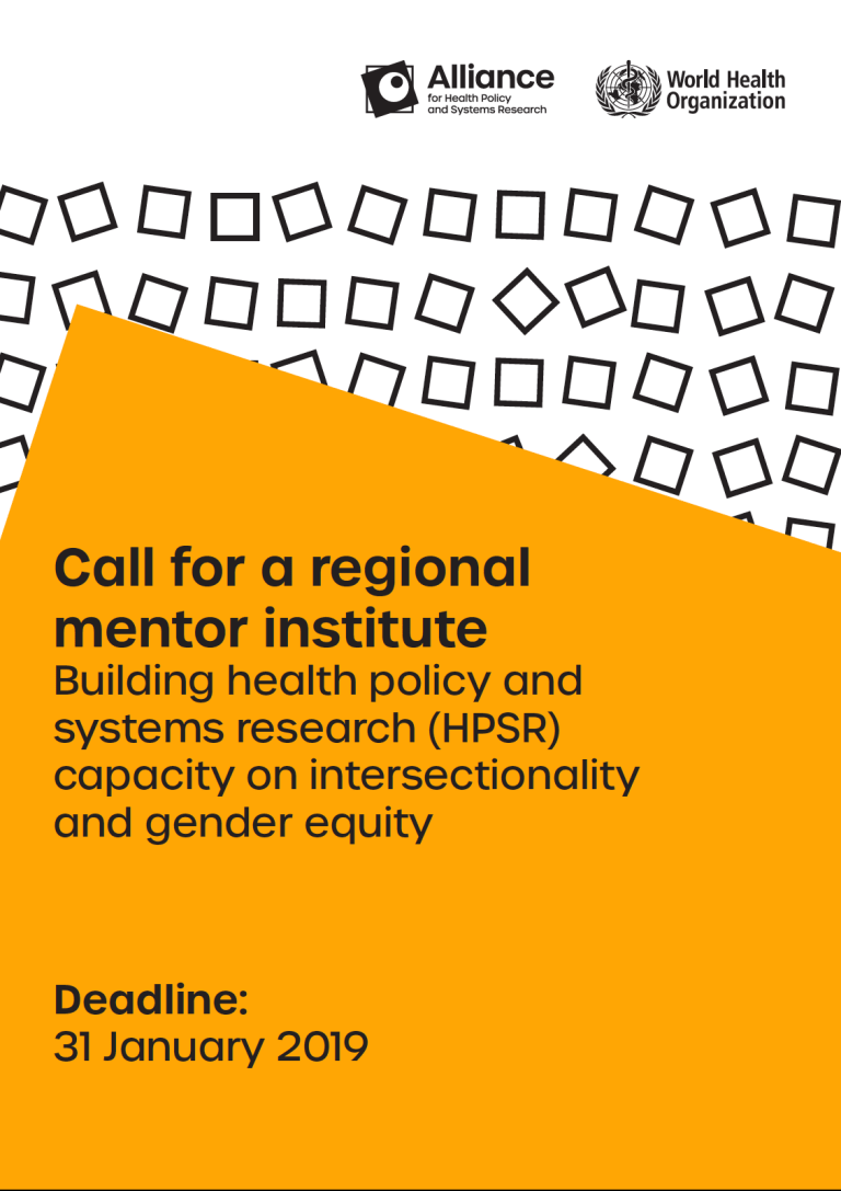 Building Health Policy and Systems Research Capacity on Intersectionality and Gender Equity
